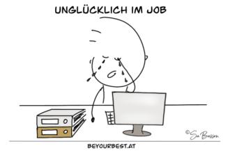 Unglücklich im Job