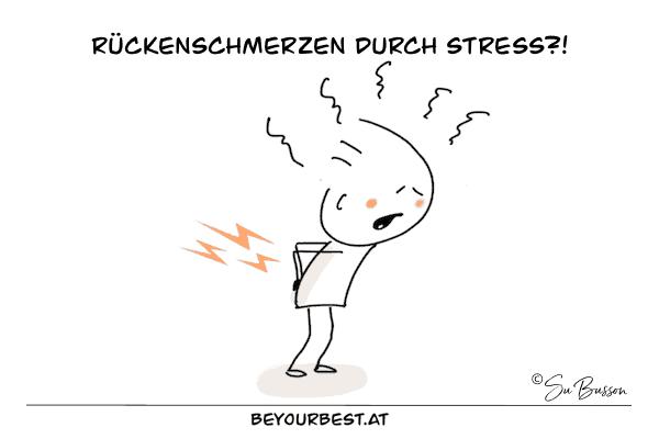 Rückenschmerzen durch Stress Yoga